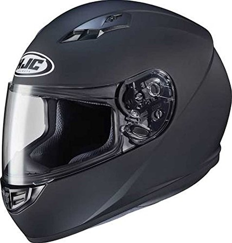 HJC Solid Adult CS-R3 Street Motorcycle Helmet - Matte Black/Large