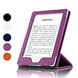 Fortune Case for Kindle E-Reader (8th Generation 2016) with Foldable and Stand Able Front Cover, Magnetic Secured Closure,Wake/Sleep for Amazon Kindle (6' Display, 8th Gen 2016 Release)-Purple