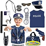 Police Costume for Kids Role Play Toy Kit for Halloween Costume Pretend