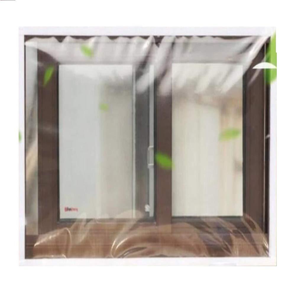 SHIJINHAO Lonas Impermeables Exterior,Transparente Película De Aislamiento Térmico Casa Ventana Pasta De Aislamiento Invierno Sellado contra El Frío Parabrisas, 19 Tamaños.: Amazon.es: Hogar