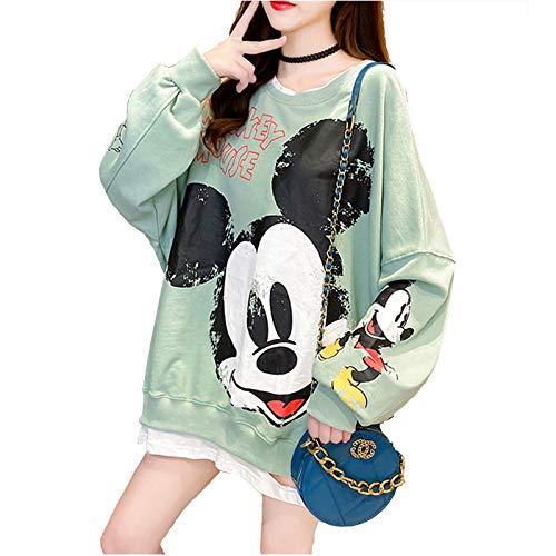 Sudaderas con capucha para mujer, de manga larga, a rayas, a la moda, casual, blusa suelta con capucha, verde, L