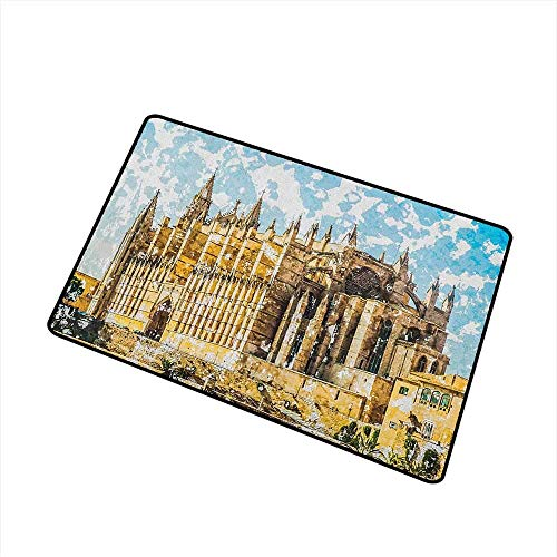 TeRIydF Gothic Commercial Grade Entrance Mat Big Gothic Buil