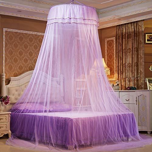 Kuppel Moskito Net Für Doppel Bett Mesh Dome Moskito Net Romantische Moskito Net Mückenschutz Zelt,Purple