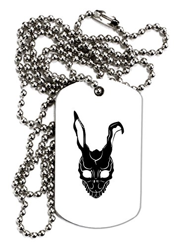 TOOLOUD Scary Bunny Face Black Adult Dog Tag Chain Necklace