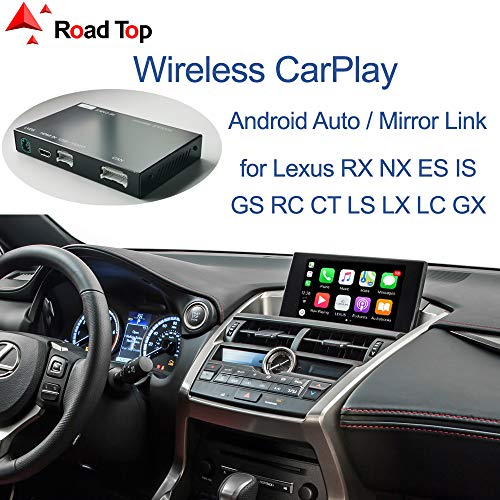 Road Top Wireless CarPlay Android Auto Interface for Lexus Original Factory Car Screen, Android Auto Mirror Link AirPlay for ES IS NX RX GS RC CT LS LC LX 2014-2019 with Touchpad Car