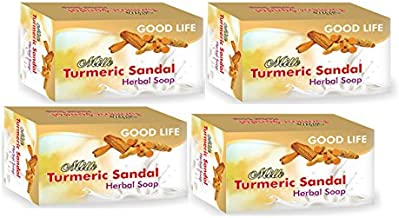 Turmeric & Sandalwood Herbal Soap 100 gm (4 pack)