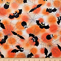 Shannon Fabrics Exclusive Shannon Studio Digital Minky Cuddle Batwing, Black Yard