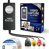 UCEC USB 2.0 Video Capture Device - Pro Version, VHS to Digital Converter, Digitize Video for Mac, PC, Upgraded Version