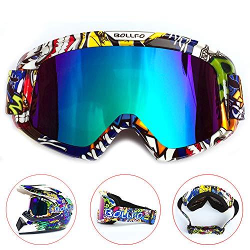 HONCENMAX Motocicleta Gafas de Protección con Máscara Faci