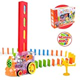 Vanmor Domino Train Toy Set, Automatic Domino Rally Train Model with Light, Kids Domino Blocks Building Stacking Toy, Domino Set Stacker Game STEM Creative Gift for 3 4 5 6 7 Year Old Boys Girls