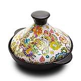 XuuSHA Tajine Terracotta Originale, Pentola marocchina Tagine con Coperchio in Alluminio Pentola...