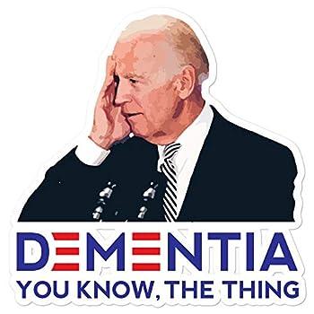 Shirtsurf Joe Biden Dementia Sticker Sleepy Joe Creepy President Trump 2020 Pelosi AOC Red Pill Political Satire MAGA Fake News Voter Fraud Rigged Election White 5.5x5.5