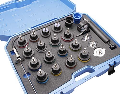 Herkules Werkzeuge 24tlg. Kühlsystemtester Kühlerabdrückgerät Kühler Drucktester