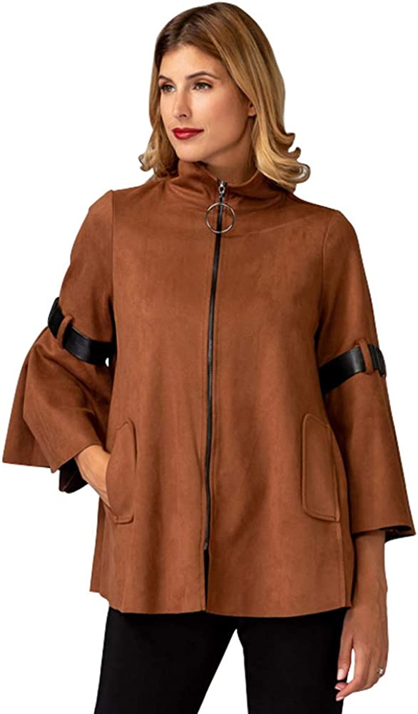Joseph Ribkoff Women's Suede High quality Sleeve Jackets Bell Max 54% OFF