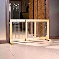 For puppies and small dogs Made of birch wood with clear varnish, with galvanized bars Closes access to rooms, stairs etc Adjustable from 63-108 cm