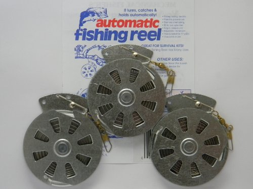 3 Mechanical Fisher's Yo-Yo Automatic Fishing Reels - Package of 3 Reels - Yoyo Fish Trap -(STANDARD WIRE TRIGGER MODEL - Same Reels sold by Cabela's, Cheaper Than Dirt, Bass Pro Shops, etc.)