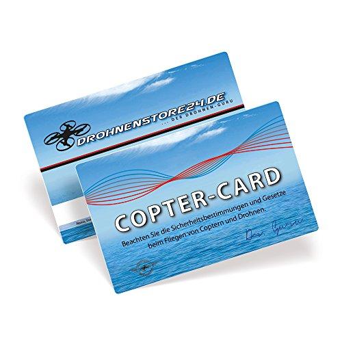 SYMA DROHNENSTORE24 Copter-Card Flugkarte für Drohnen und Copter - Geschenk Gadget Flugschein