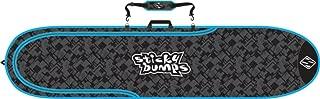 Sticky Bumps Single Day Surfboard Bags 8'6 Longboard Black/Blue/Reflective