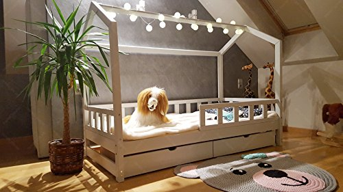 Oliveo House bed with barriers and drawer, children bed house, bed for children, kids bed,home bed