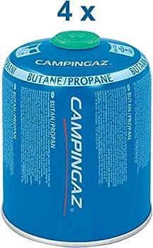 Campingaz CV 470 Plus, 4 cartouches à gaz, pour les réchauds de camping Campingaz à vanne Easy Click Plus pour un montage facile, mélange propane-butane