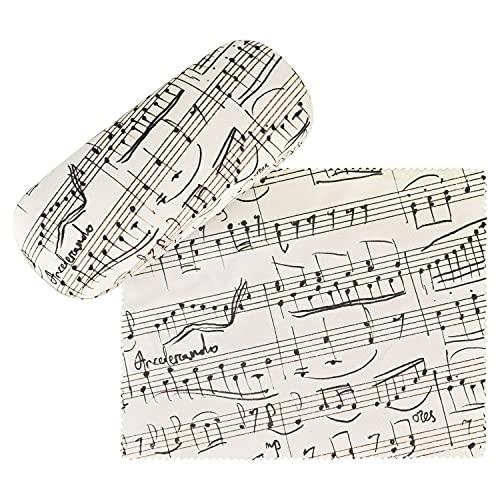 von Lilienfeld Estuche Gafas Notas Música Funda Ligeramente Estable Colorido Paño de limpieza