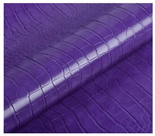 MAGFYLY Cuir synthétique Texturé Tissu Similicuir Matière Epaisseur 1mm pour Tapisserie Canapé De Siège De Voiture Meubles Vestes Sac À Main Tissu Au Largeur 140cm 1 Pièce=100cm(Longueur)