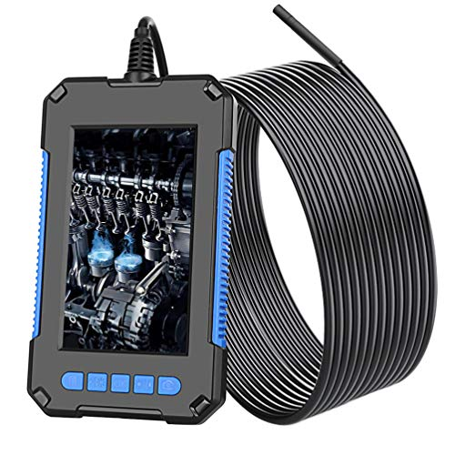 ULTECHNOVO Industrial Endoscope Borescope Camera Ip67 Waterproof Hd Snake Camera with Screen for Car Air Conditioner Engine Checking Sewer Drain Pipeline Inspection 2M