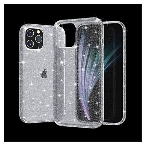 Funda para iPhone 12/12 Mini/12 Pro MAX – con Brillante Lentejuela Brillo Carcasa PC Dura + TPU Suave Fundas Anti Rasguños Anti Arañazos Back Cover,Negro,12mini