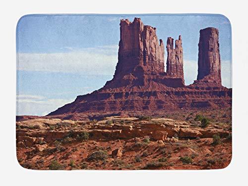 ABAKUHAUS Paisaje Tapete para Baño, Gran Cañón del acantilado, Decorativo de Felpa Estampada con Dorso Antideslizante, 45 cm x 75 cm, marrón