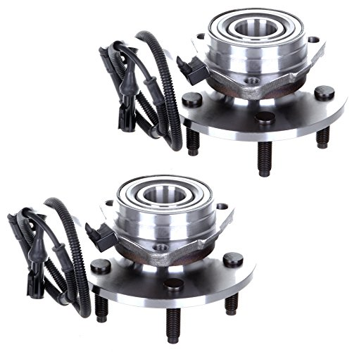 SCITOO Compatible with Both (2) 515031 New Complete Front Wheel Hub Bearing Assembly fit 1999 2000 2001 2002 Ford Expedition Lincoln Navigator 5 Lugs w/ABS