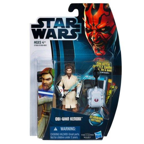 Jedi Master Obi-Wan Kenobi mit Seilwinde CW12 Star Wars The Clone Wars von Hasbro