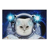 MAKIKU 500ピース ジグソーパズル 38*52cm かわいい 猫柄 宇宙柄 宇宙飛行士