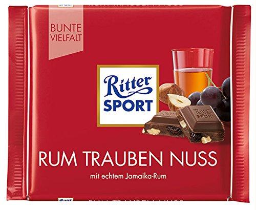 12x Ritter Sport - Bunte Vielfalt Rum Trauben Nuss - 100g