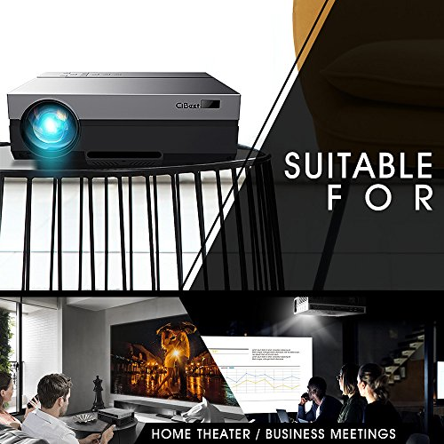 1080P Projector, CiBest Full HD True Native 1920 X 1080P Video Projector +80% Lumens Brightness Upgraded FHD Movie Projector for Home Theater Entertainment [2018 Newest Model]1080P Projector, CiBest F