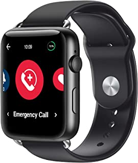 Handsfree Health - WellBe Emergency Alert 4G Smart Watch - Medical Monitoring Device for Seniors & Elderly - Heart Rate Monitor & Pedometer - 2-Way SOS Communication - GPS - Monthly Subscription Fee