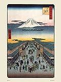 onthewall Hiroshige Japanisches Poster Kunstdruck