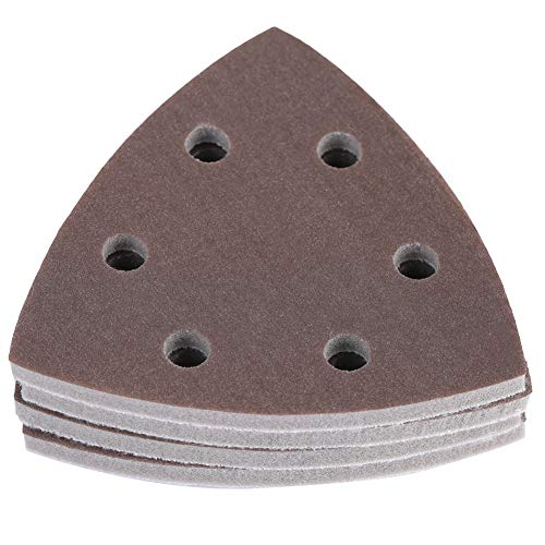 FTVOGUE 4 stücke 6 Löcher Schleifblätter Sander Pads Dreieck Schwamm Schleifpapier Blätter Disc Schleifpapier Polierwerkzeuge(1800-2000#)