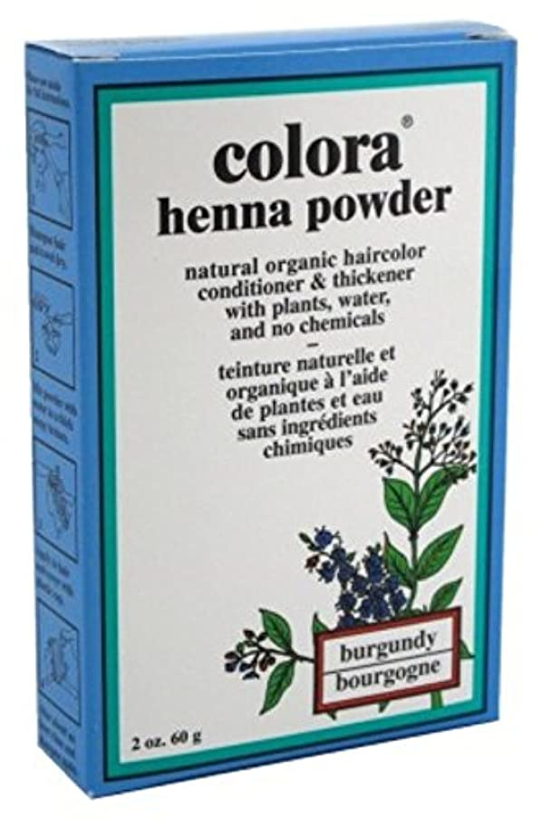 Colora Henna Powder Hair Color Burgundy 2oz (6 Pack)
