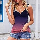 MJKK Women's Sleeveless Vest Button Front Crop Tank Top Ribbed Knit Shirt Orange Color Block Dress Color Block Bikini Set Color Block Denim Jacket Womens Color Block Shirt(#2-Pink,XXL)