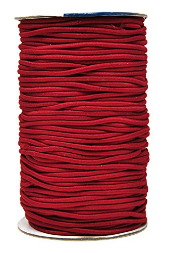 Mandala Crafts Elastic Cord Stretchy String for Bracelets, Necklaces, Jewelry Making, Beading, Masks (Maroon, 2mm 76 Yards)