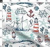 Maritim, Schiffe, Wal, Seetang, Seestern, Anker, Meer