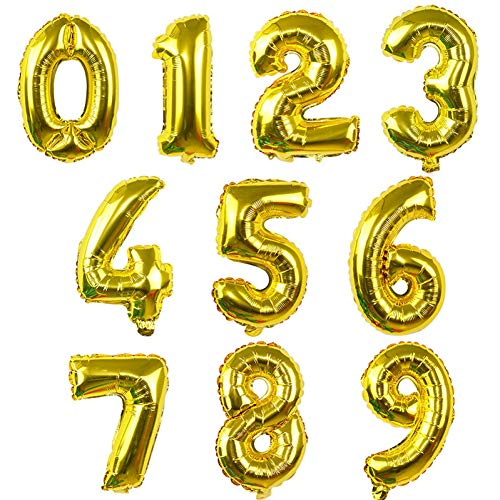 XXNYD 40Inch Giant Number Foil Balloons Large Helium Rose Gold Silver Pink Blue Digit Ballon Wedding Birthday Party Souvenirs