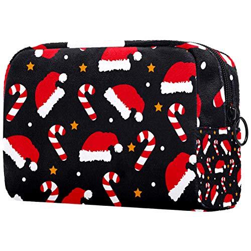 KAMEARI Bolsa cosmética Roja de Navidad Sombrero_Mesa De Trabajo 1 Gran Bolsa de Cosméticos Organizador Multifuncional Bolsas de Viaje