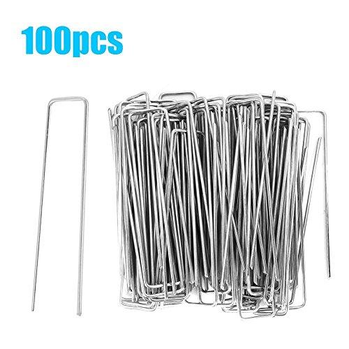 Metal sol Crochets//PINS//agrafes pour membrane /& Jardin Tissu-Pack de 6