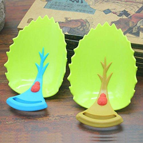 AKOAK - Extensores de grifos para bebés, diseño de hojas naturales, extensores de mango de fregadero para bebés, niños y niños (marrón y azul)