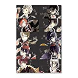 KUKUALE Anime Poster Bungo Stray Dogs Nakajima Atsushi Dazai Osamu Wall Art Gifts 08 Posters for Room Aesthetic 12x18inch(30x45cm)