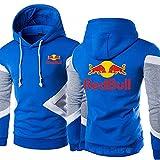 FXZFYYY Impreso Red Bull Racing Color Block Suéter con Capucha Chaqueta De Primavera Y Otoño Pullover Suéter Deportes Casual Ropa De Hombre