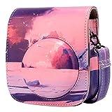 Étui pour Appareil Photo Compatible avec instantané Instax Mini 11, Annle étui de Protection en Cuir avec Sangle Amovible