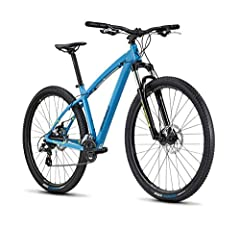 Lightweight 6061-T6 aluminum alloy frame with forged dropouts SR Suntour XCT fork provides 100mm of supple coil-sprung suspension Tektro Aries mechanical disc brakes increase your control Shimano 2x8 Altus drivetrain provides ample gearing for the st...