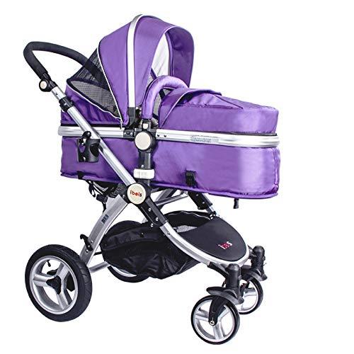 IBEIS, carrozzina pieghevole 2 in 1, passeggino di alta qualità per neonati, europeo, per bambini da 0a 36mesi